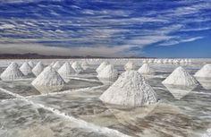 Desierto salado de Uyuni en Bolivia