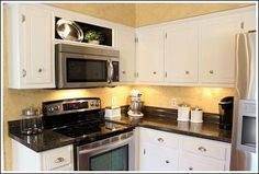 1000 ideas about microwave above stove on pinterest jeff lewis design cheap kitchen remodel. Black Bedroom Furniture Sets. Home Design Ideas