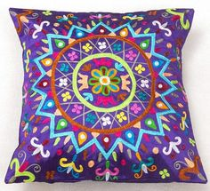 Floral pattern Indian cushion covers - Surya | eBay