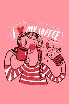 I Love My Coffee - Hecho por Ignacio Huizar a quien admiro tanto.