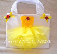 Beauty and the Beast Party Favor - Beauty and the Beast Inspired Gift Bag - Belle Favor - Can Be Found at fairytotescouture.etsy.com