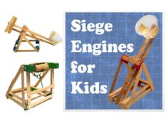 http://www.instructables.com/id/Mini-Siege-Engines/  Catapult projects for kids.
