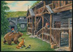 Sommermotiv 2015. Midthun Gnome Pictures, Postcard Art, Book Illustration, Mythical Creatures, Faeries, Elves, Folk Art, John Bauer, Drawings