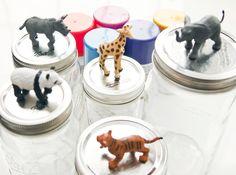 BrightNest | A Wild Storage Solution: Mason Jar Animal Lids