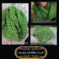 #Crochet #Chunky Bricks & Bobbles #Cowl #FreePattern: http://thecrochetlounge.com/crochet-chunky-cowl-bricks-bobbles-free-pattern/  #TheCrochetLounge #crochet #free #pattern #chunky #neckwarmer #infinityscarf #cowl