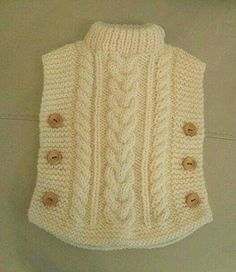 Knitting Patterns Cowl here is a sweaterThis Pin was discovered by hya Baby Sweater Knitting Pattern, Poncho Knitting Patterns, Knitted Poncho, Knitting Stitches, Knit Patterns, Knitted Hats, Blanket Patterns, Diy Crafts Knitting, Knitting For Kids