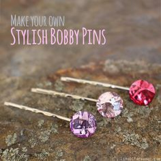 Bobby pins with glued on jewels.