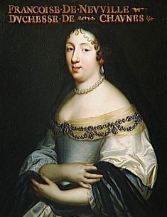 1653-1654 (estimated) Francoise de Neufville by the Beaubrun brothers studio (Châteaux de Versailles et de Trianon - Versailles, Île-de-France, France) photo credit - Daniel Arnaudet:Gérard Blot