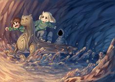 Undertale, fandom, Asriel, Asriel Dreemurr, Undertale characters, Chara, River Person