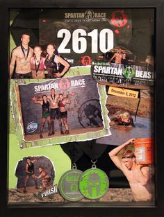 This is a shadowbox I created to display pictures and medals from our 2012 Spartan Beast Race.