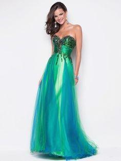 A-line Sleeveless Floor-length Beading Tulle Sweetheart Prom Dress