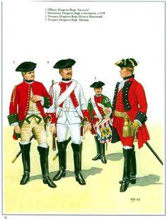 Austrian Dragoons, Seven years War Conquistador, Kaiser Karl, Independence War, War Drums, Army Uniform, Military Uniforms, Osprey Publishing, Frederick The Great, Seven Years' War