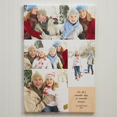 Create a unique gift from your favorites photos with the Personalized Canvas Art - Our Memories Photo Montage - Small. Find the best personalized photo gifts at PersonalizationMall.com