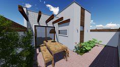 Projeto Modelo Residência Popular 77m² - Área de Lazer - Studio Urbano Arquitetura e Interiores
