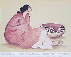 "R.C. Gorman (Native American, 1931-2005)   ""Tonto Bowl"""