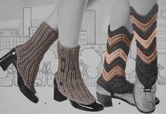Vintage Spats Pattern Women Crochet & Knit by GrandmaHadItGoinOn