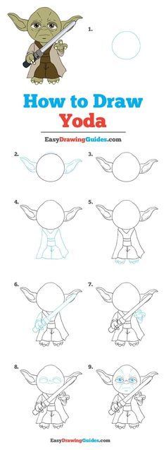 Learn How to Draw Yoda: Easy Step-by-Step Drawing Tutorial for Kids and Beginners. #Yoda #StarWars #DrawingTutorial #EasyDrawing See the full tutorial at https://easydrawingguides.com/how-to-draw-yoda/.