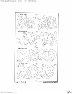 Scrolly border embroidery patterns