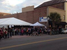 The last signing at #yallfest . Crowds during the day was 10x this size. More pics later. - via @Richard Dillman