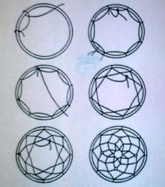 How to make different patterns on dreamcatchers iroquois for How to make dreamcatcher designs