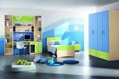 Chambres d'enfants par couleur - bleu