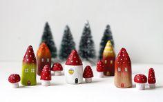 Little mushroom houses by rodi, via Flickr