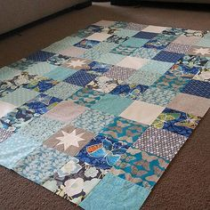 Blue WIP quilt by Ms Midge