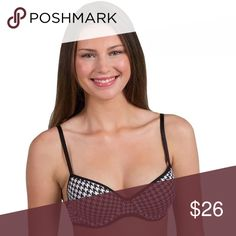 Candies Bra - Demi Push-Up Juniors Candie's® Bra: Microfiber Demi Push-Up Bra Black Houndstooth PRODUCT DETAILS For a fun, flirty, feminine foundation, this juniors' Candie's bra is a must-have. PRODUCT FEATURES      Moderately padded demi cups     Push-up design     Smooth microfiber     Piping details     Adjustable shoulder straps     Underwire     Back hook & eye closure  FABRIC & CARE      Nylon, spandex     Hand wash     Imported Candie's Intimates & Sleepwear Bras