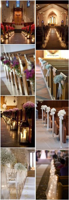 Wedding Decorations for a church ceremony. Wedding decor inspiration, ceremony d. Wedding Ceremony Ideas, Church Wedding Decorations Aisle, Rustic Church Wedding, Wedding Church Aisle, Simple Wedding Decorations, Wedding Altars, Church Ceremony, Simple Weddings, Wedding Simple