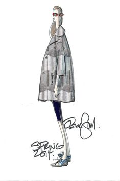 Spring 2014 Designer Inspirations: New York Collections - Peter Som Fashion Quotes, Fashion Art, Love Fashion, Fashion News, Spring Fashion, Fashion Design Sketches, Fashion Drawings, Fashion Illustrations, Croquis Fashion