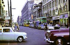 Argyle Street from Buchanan Street - October 1967 Glasgow Scotland, Scotland Travel, Buchanan Street, Argyle Street, Ford Anglia, Glasgow City, Rio Carnival, Old Street, Old Photos