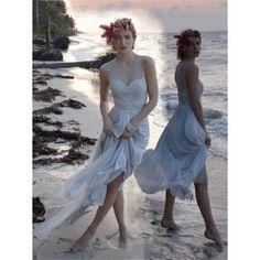 Simple Abendkleider lange bodenlang Perlenstickerei Weiß Abendkleider # VB1056