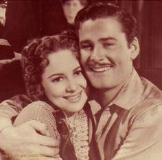Errol Flynn and Olivia de Havilland, friends,  frequent costars but never lovers