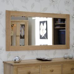 Opus Solid Oak Furniture 1500 x Wall Mirror is an affordable addition to a modern home with its stylish contemporary design.