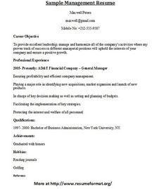 for different management resumes visit wwwresumeformatorgmanagement resume
