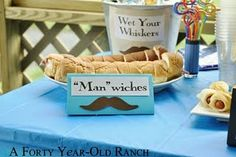 Food names for a mustache party