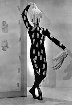 Charles Henri Ford in a costume designed by Salvador Dali. Photograph by Cecil Beaton.