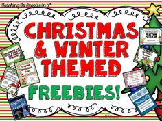 Christmas & Winter Freebies {EIGHT Freebies} - Teaching to Inspire with Jennifer Findley