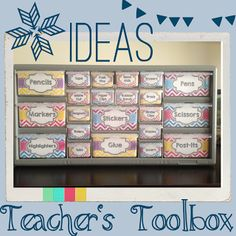 Teacher's Toolbox Tutorial and FREE drawer labels!