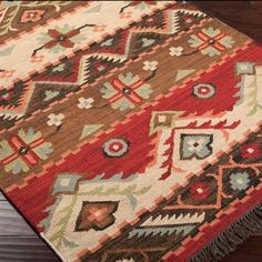 Western Jewel Rug-bright colors and a wonderful southwestern style. Find more great western rugs on Rods.com!