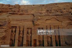Facade of Small Temple of Hathor, dedicated to Queen Nefertari, Abu Simbel (UNESCO World Heritage List, 1979), Egypt, Egyptian civilization, New Kingdom, Dynasty XIX