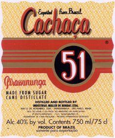 Poster Rótulo Cachaça Pirassununga 51
