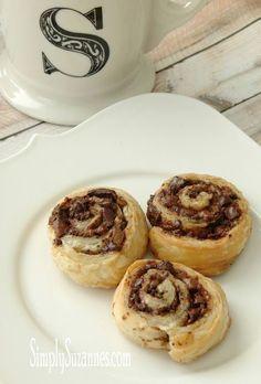 Chocolate & puff pastry pinwheels: