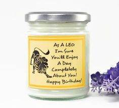 Leo Candle...  Zodiac Gift | Birthday Gift | Friend Gift | Astrology Gift | Personalised Gift | Horoscope Candle | Star Sign | August