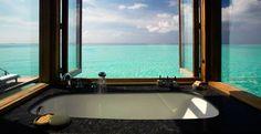Sustainable luxury at Gili Lankanfushi, Maldives – Green Pearls Hotel Bathroom Design, Hotel Bathrooms, Bathroom Designs, Bathroom Ideas, Small Bathroom, Gili Lankanfushi, Beach Honeymoon Destinations, Hotel Safe, Bathroom Design Inspiration