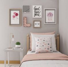 If you want to learn how to live like a minimalist, check out these ideas about minimalist bedroom decor, home decoration and living simple. Source by Dream Bedroom, Bedroom Wall, Girls Bedroom, Teen Bedroom Colors, Girl Room, My Room, Diy Home Decor Bedroom, Bedroom Ideas, Bedroom Designs