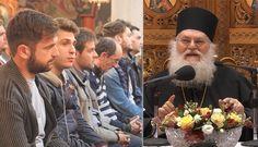 Ο Γέροντας της Ιεράς Μεγίστης Μονής Βατοπαιδίου Γέροντας Εφραίμ ομιλεί σε σύναξη νέων της Ιεράς Μητροπόλεως Κίτρους Πλαταμώνος και Κατερίνης για την σημασία του πνευματικού αγώνα και της τήρησης των εντολών του Θεού.