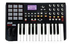 AKAI PRO - MPK25 - 25-key Keyboard Controller dengan MPC pads  Tampil dan Memproduksi Secara Portabel  Akai Professional MPK25 adalah kontroler keyboard portabel dengan kontrol produksi MPC. Mengacu kepada MPK49 (keyboard pertama yang memiliki pad MPC), keyboard MPK25 dengan 24 key mewariskan manfaat, kemampuan, dan fleksibilitas yang membuat MPK49 menjadi salah satu keyboard terbaik di dunia.