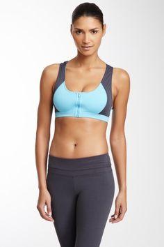 5435c16463 Balance Collection By Marika Zip Front Sport Bra Pilates Workout