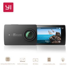 Cheap action camera, Buy Quality action camera directly from China action Suppliers: YI Action Camera International Version Edition Ambarella Sports Mini Camera ARM CMOS 155 Degree EIS LDC WIFI Nikon D5200, Sony Camera, Video Camera, Photoshop Elements, Pixel Photo, Wifi, Dslr Photography Tips, Monitor